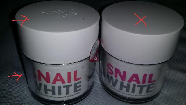 phân biệt snailwhite thật giả
