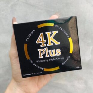 4k plus whitening night cream