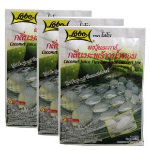 Set 3 gói rau câu dừa Lobo Coconut Juice Flavour Agar Dessert Mix