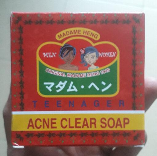 Set 2 Xà phòng trị mụn Madame Heng Acne Clear Soap