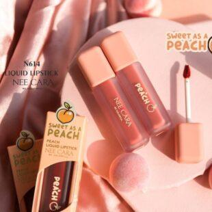 Son Kem bền màu lâu trôi Nee Cara Peach Liquid Lipstick N614