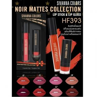 Set son Sivanna Colors Noir Mattes Collection HF393